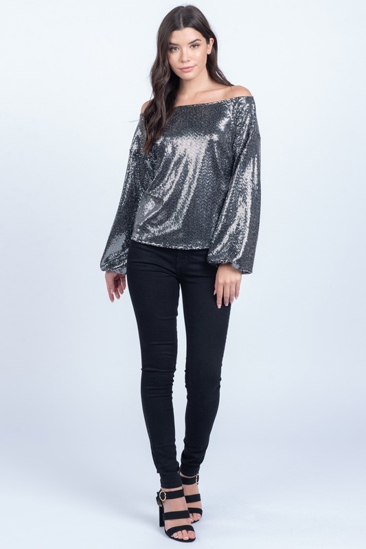 Everly Sequin Knit Top