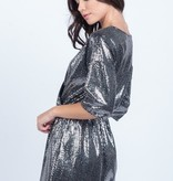 Everly Silver Sequin Romper