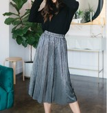 Everly Sparkle Pleated Skirt