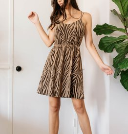 Everly Tiger Sparkle Mini Dress