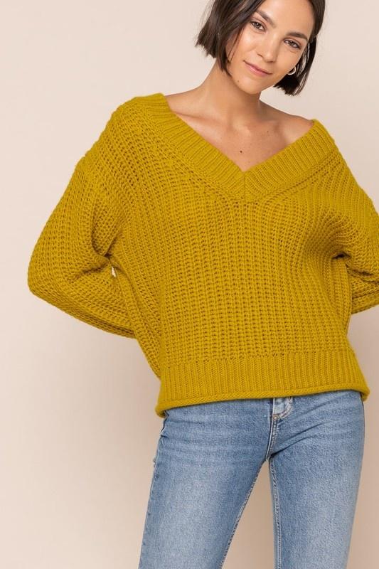 All In Favor V Neck Sweater