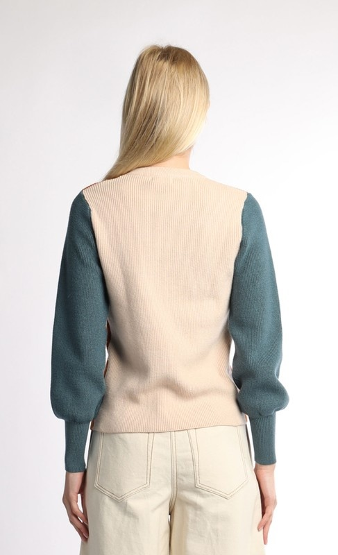 Current Air Color Block Sweater