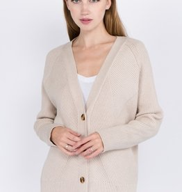 Dreamers Ribbed Button Cardigan