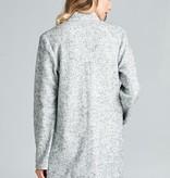 Ellison Collarless Longline Jacket