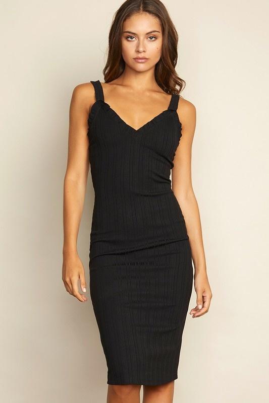 Dress Forum Ribbed Midi Dress