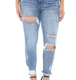 Cello Distressed Crop Skinny