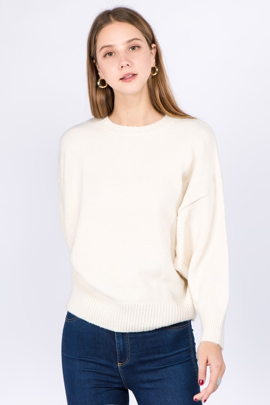 Dreamers Balloon Sleeve Slouchy Sweater