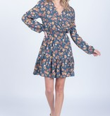 Everly Surplice Floral Dress