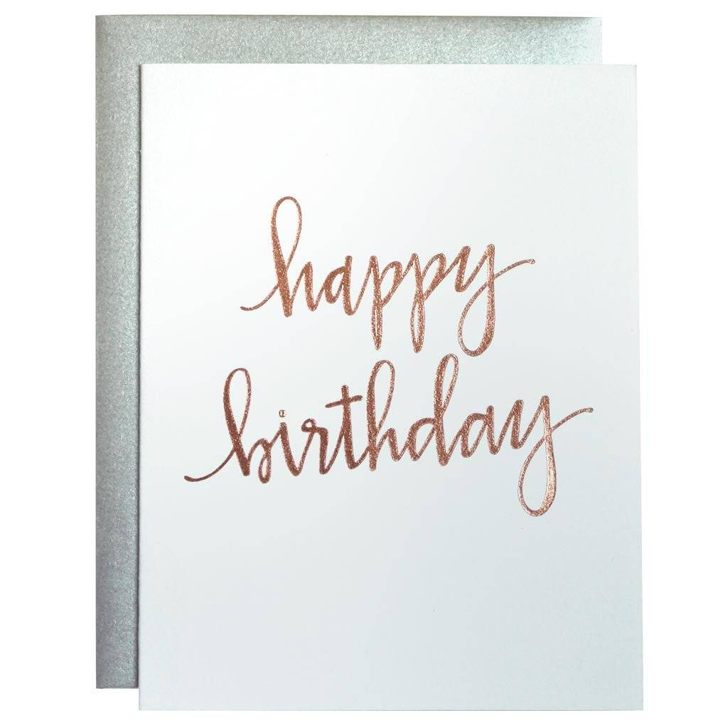 Happy Birthday Script Card
