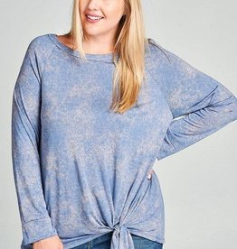 Mineral Wash Tie Front Top