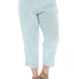 Chambray Crop Pants