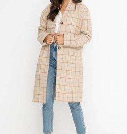 Lush Plaid Taupe Jacket