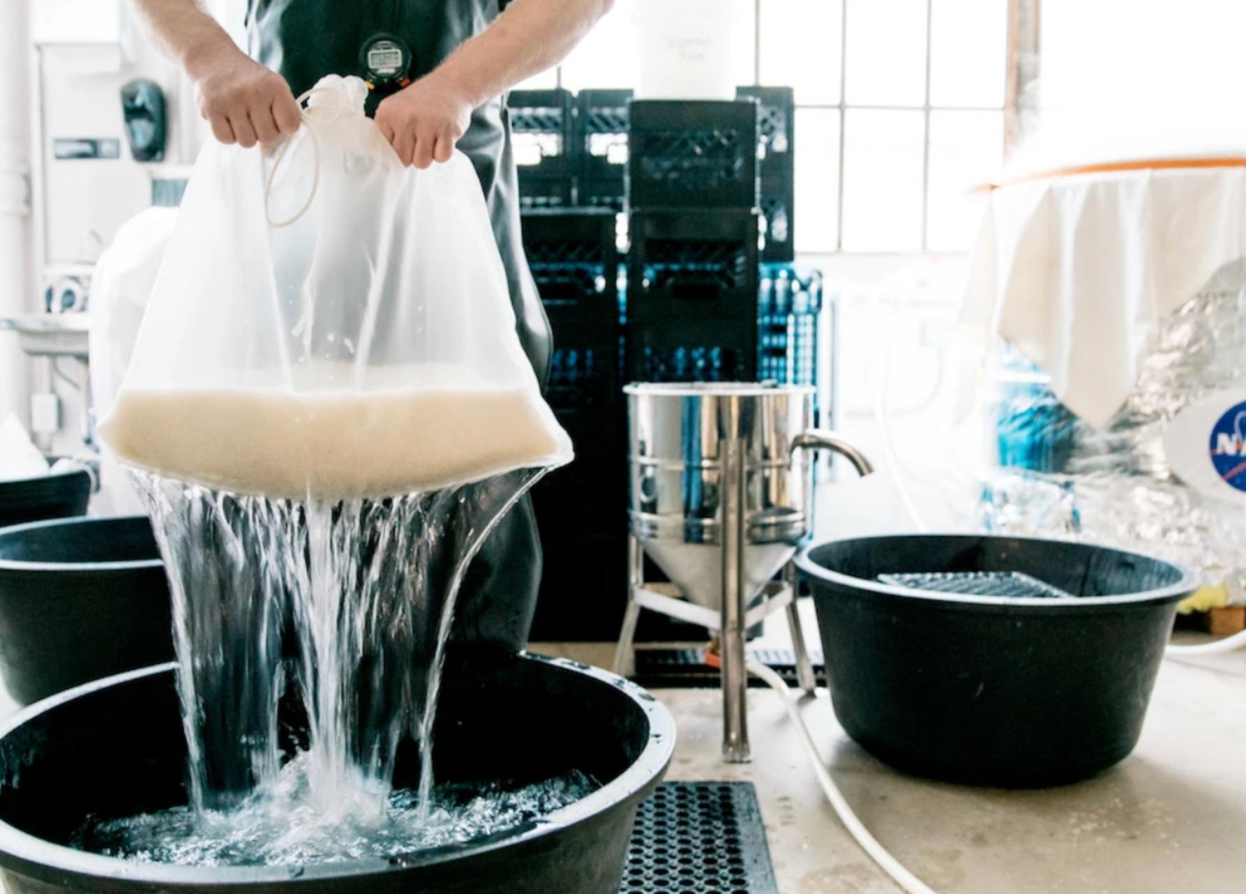 Brandon Doughan rinsing rice © Polaner Selections
