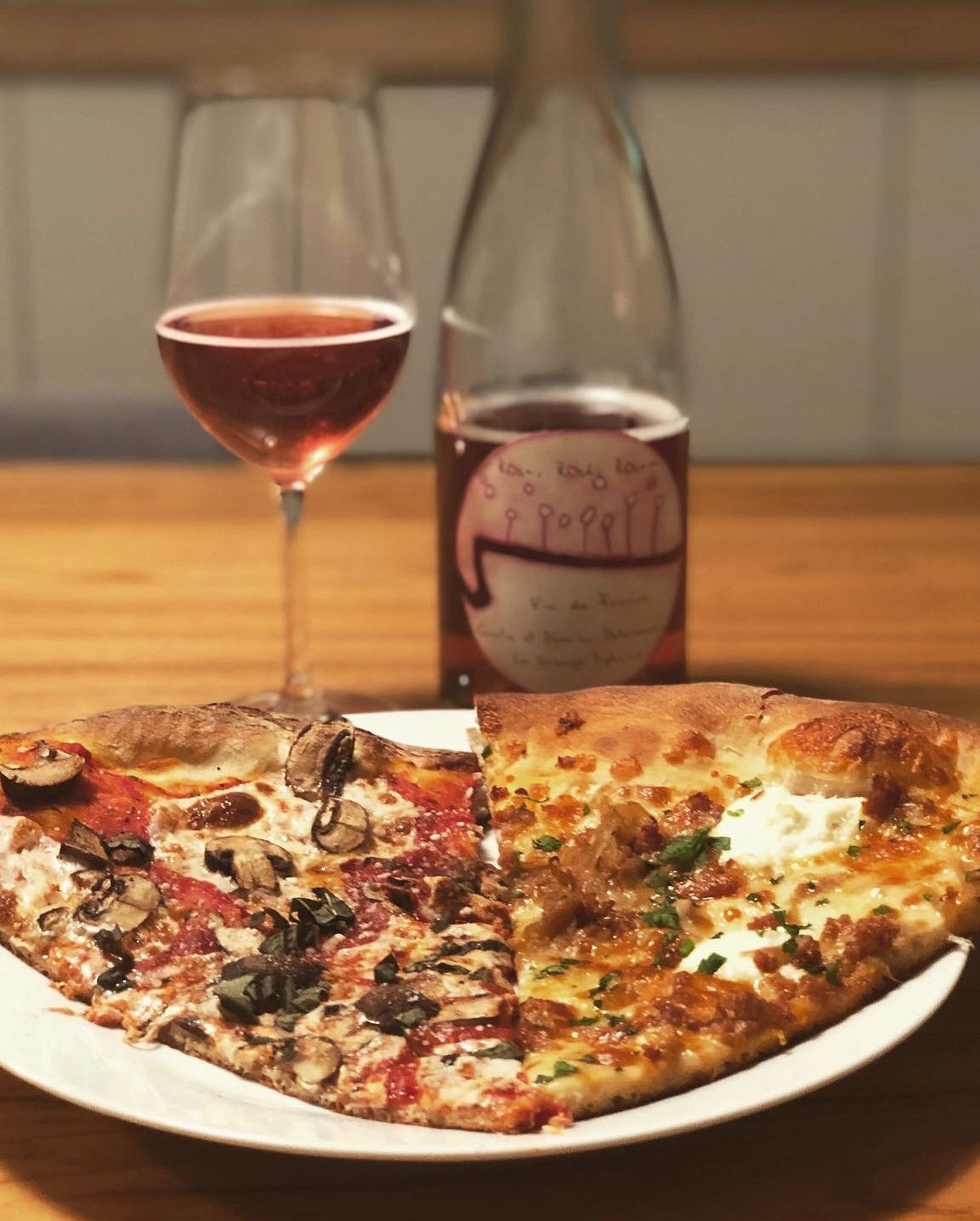Baker's Pizza + La Grange Tiphane Rose
