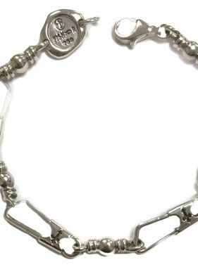 Original Large Link w/Crosses SS Bracelet