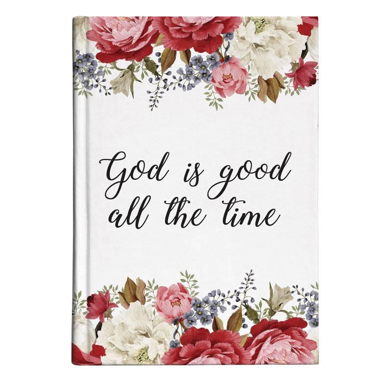 God Is Good Floral Journal