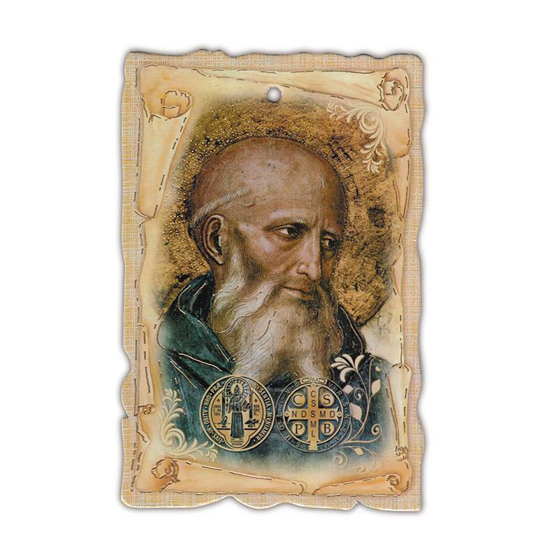 St Benedict Wall Plaque