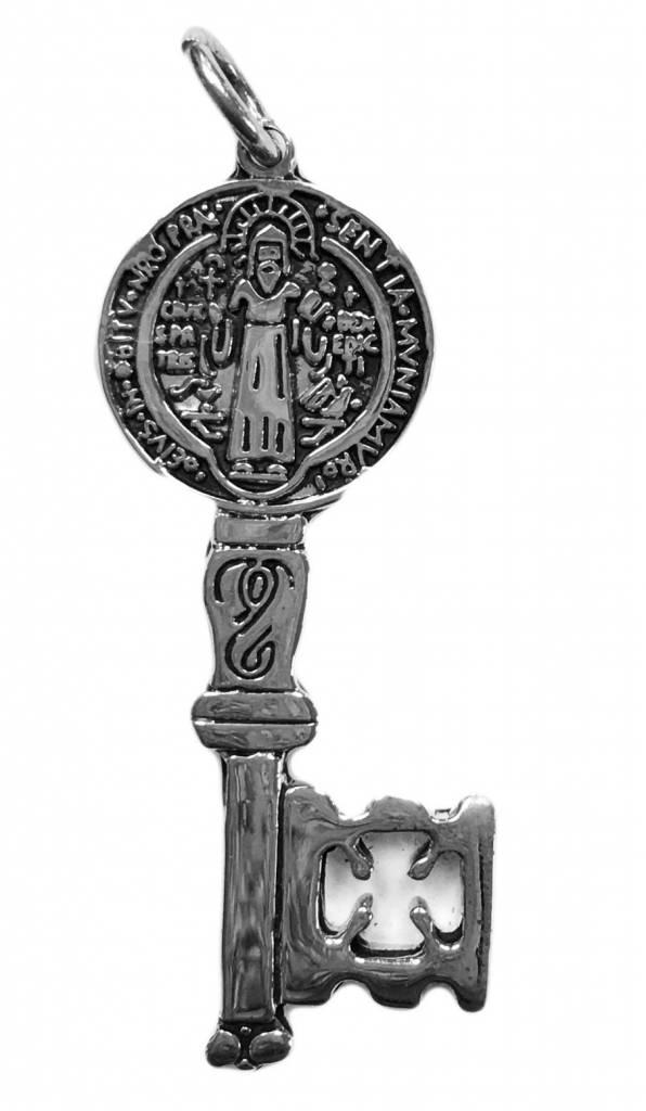 St. Benedict SS Key Pendant