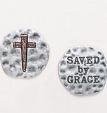 "1"" Saved by Grace Pocket Token"
