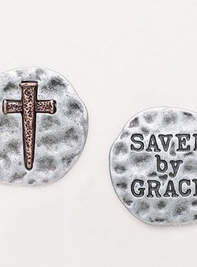 "1"" Saved by Grace Pocket Token"