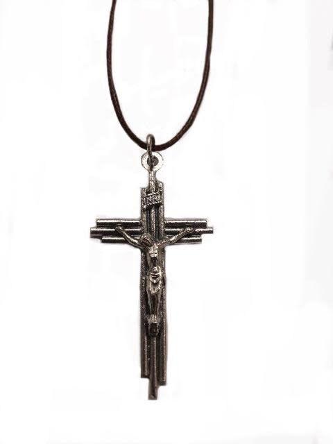 """2"""" Layered Crucifix Pendant w/Cord"""