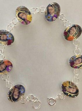 Virgen De Guadalupe SS Bracelets
