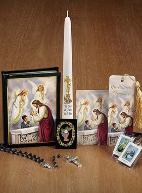 Sacramentos Sagrados Deluxe First Communion Boxed Set (Boy)