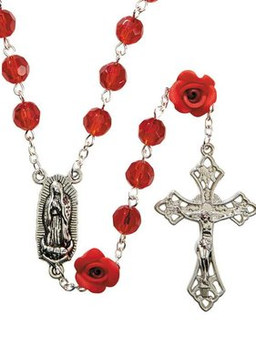 Guadalupe Red Rose Rosary