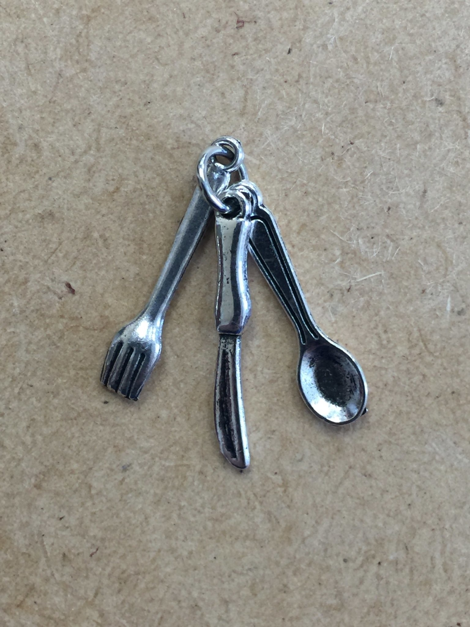 Kitchen Utensils Metal Charm