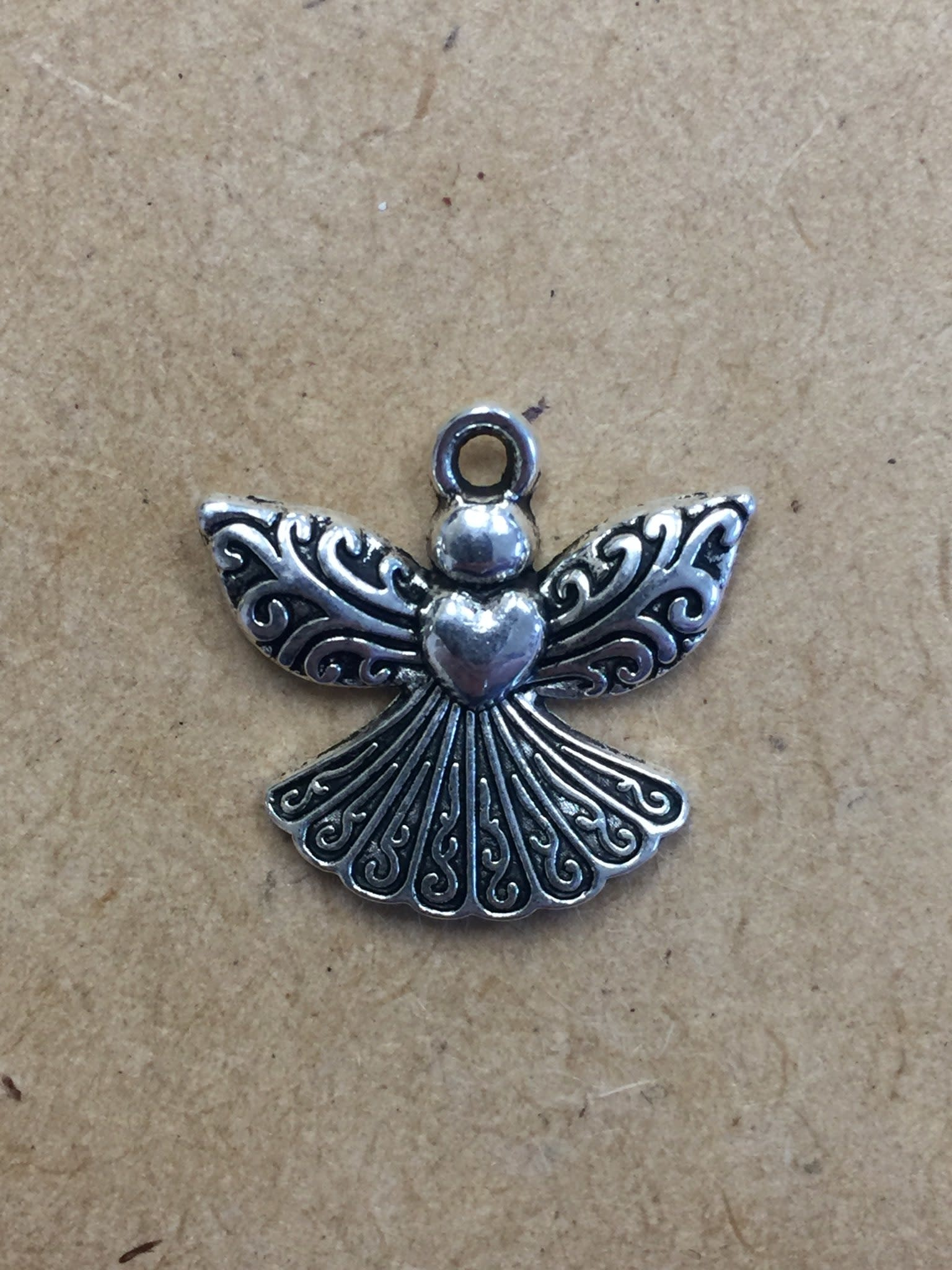Large Angel w/Heart Charm