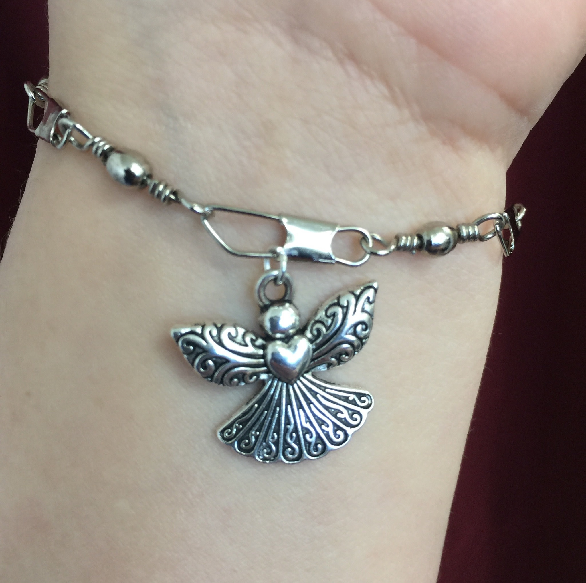 Large Angel w/Heart Charm