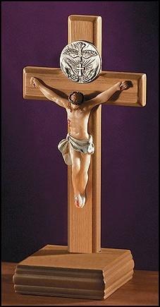 "Holy Spirit 5"" Standing Crucifix"