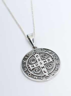 Large St. Benedict Medal SS Pendant