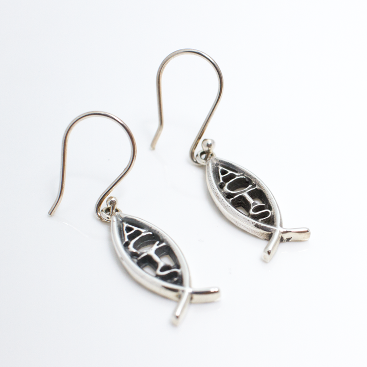ACTS Vertical Ichthus Earrings