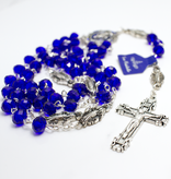 Miraculous Mother Blue Crystal Rosary