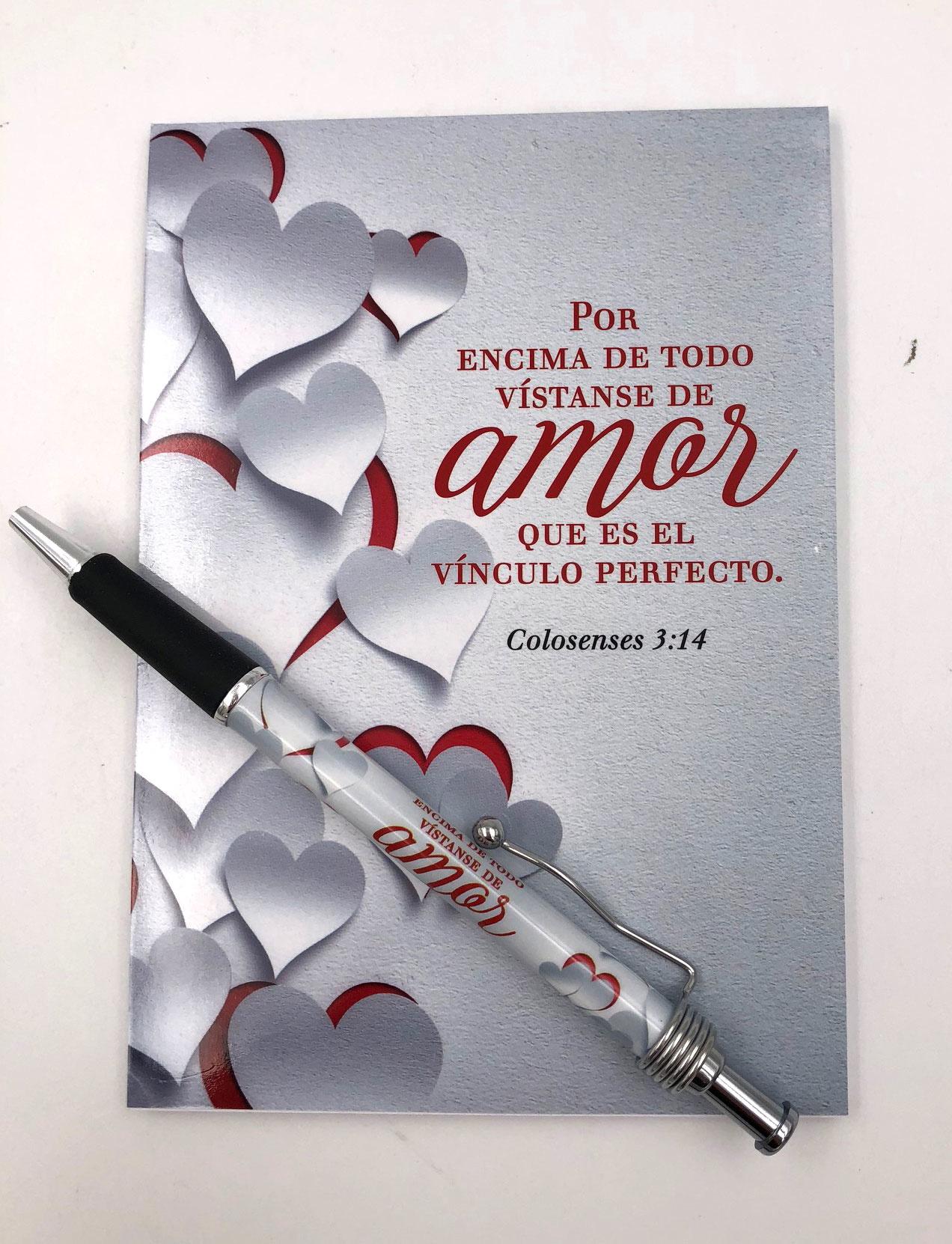 Libreta & Boligrafo Amor