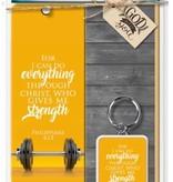 I Can Do Philippians 4:13 Keychain w/Bookmark