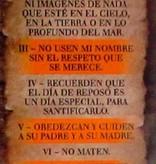 Separador de libro - 10 mandamientos