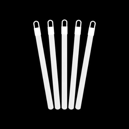 "6"" White Glowstick w/Cord (25 pack)"