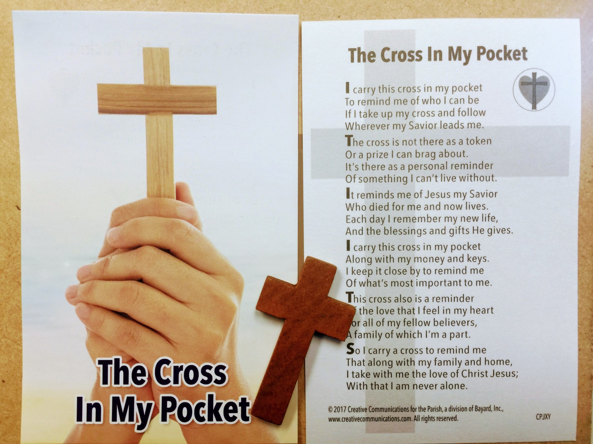 The Cross in My Pocket Cross w/Prayer Card
