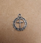 Fancy Round Cross Charm
