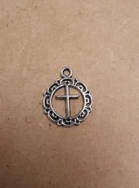 Fancy Round Cross Charm