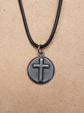 Stainless Steel Cross Pendant w/Cord
