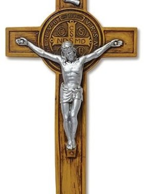 Woodtone St Benedict Wall Crucifix