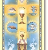 Seven Sacraments Holy Card