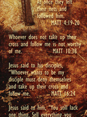 Follow Me Bookmark Matt 4:19
