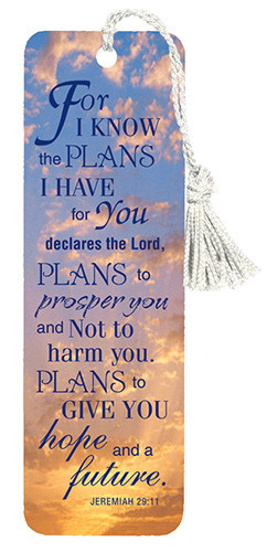 For I know the Plans Bookmark Jeremiah 29:11