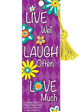 Live Well Laugh Often Bookmark