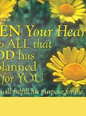 Open Your Heart Prayer Card