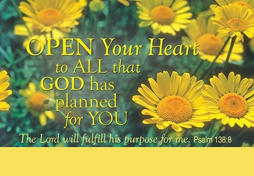 Open Your Heart Prayer Card